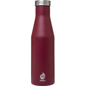 MIZU S4 Drinkfles with Stainless Steel Cap 400ml rood/zilver